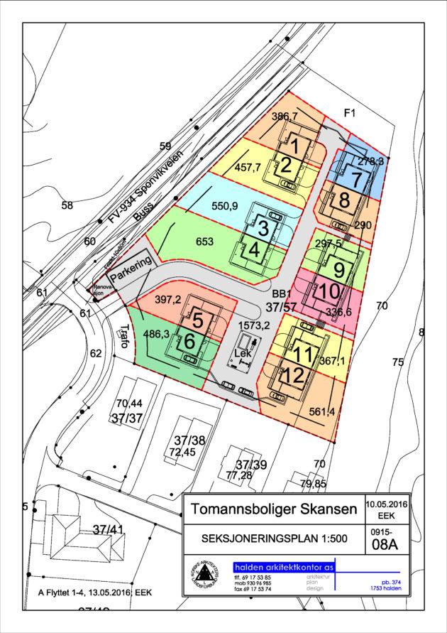 08A Seksjoneringsplan Skansen 13mai2016